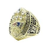 WSTYY Anillo de Campeonato de los New England Patriots 2018 Anillo de Campeonato para Hombres de Aficionados Memorial Collection,with Box,10