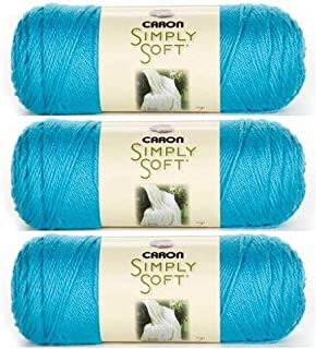 Caron Bulk Buy Simply Soft Brites Yarn (3-Pack) Blue Mint H9700B-9608
