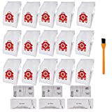 Hongfa Replacement for Miele Compact C1 Vacuum Bags Type FJM, 15 Packs AirClean 3D Efficiency Dust Bag Compatible with Miele Compact C2 Compact C1 S6000-S6999 S4000-S4999,S700 S500-S578 Vacuum Cleaner