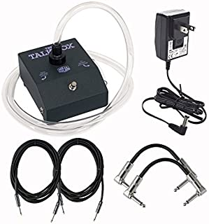 Dunlop HT1 Heil Talk Box Effects Pedal With a Pair of Patch Cables, Power Supply, and Instrument Cables