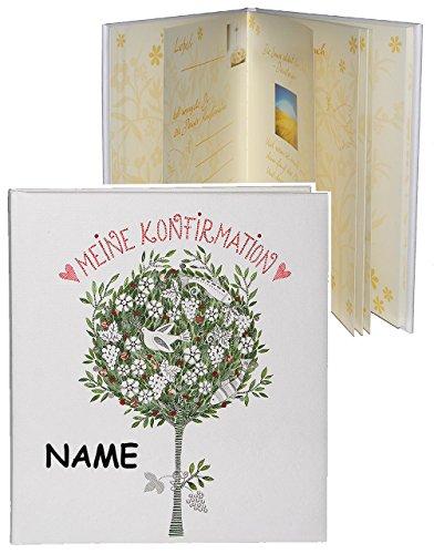 Tagebuch / Erinnerungsalbum -  Meine Konfirmation  - incl. Namen - Gebunden zum Einkleben & Eintragen - groß - Fotobuch / Fotoalbum / Kirche - mit Texten - ..