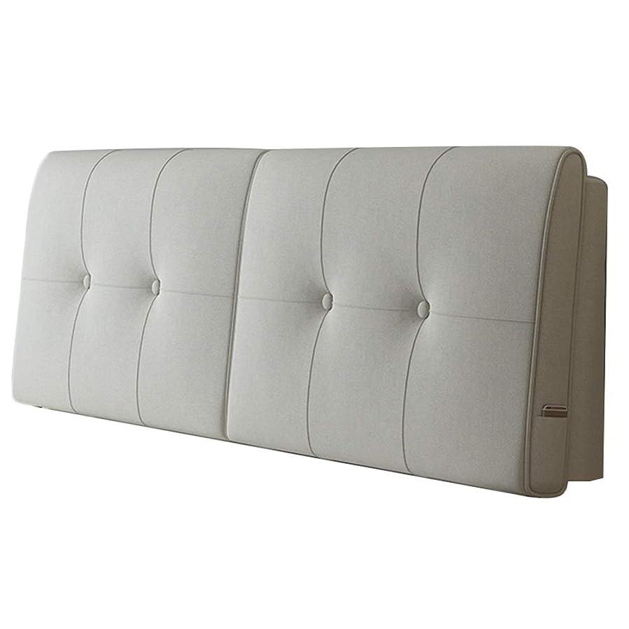 困惑した後者誤ってPENGFEI クッションベッドの背もたれ抱き枕 寝具 リネン 布張りを読む、 洗える、 2つの指定、 5色、 4サイズ (Color : A-beige, Size : 180CM)