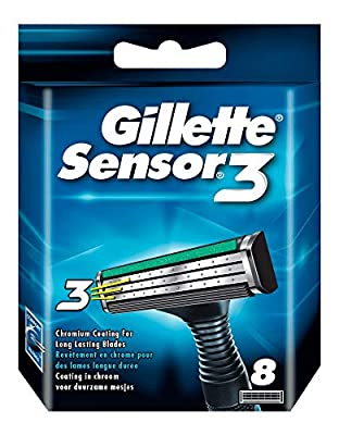 GILLETTE Sensor3 Set de 8 Lames de Rasoir pour Homme