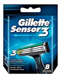 Gillette Sensor3 Cuchillas de Afeitar Hombre, Paquete de 3 Cuchillas de Recambio