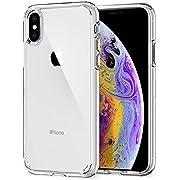 【Spigen】 スマホケース iPhone XS ケース/iPhone X ケース 5.8インチ 対応 全面クリア 耐衝撃 米軍MIL規格取得 ウルトラ・ハイブリッド 057CS22127 (クリスタル・クリア)