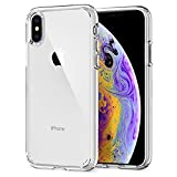 Spigen Coque iPhone X, Coque iPhone XS [Ultra Hybrid] Transparente, Protection Coin AIR Cushion, Bumper Renforcé en...