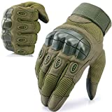WTACTFUL Touch Screen Full Finger Tactical Gloves for Motorcycle Motorbike Cycling Airsoft Paintball Military Hiking Hunting Climbing Work Outdoor Gear Costume Halloween Green Size Medium