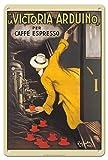 Pacifica Island Art La Victoria Arduino - Coffee Maker - Caffé Espresso - Vintage Advertising Poster by Leonetto Cappiello c.1890-8in x 12in Vintage Tin Sign
