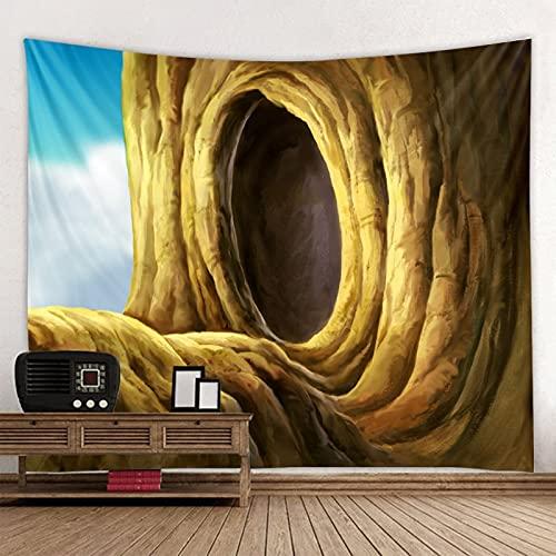 Puente de madera en el agujero del árbol mandala tapiz indio colgante de pared estera de yoga bohemia manta de alfombra de tiro de playa A3 100x150cm