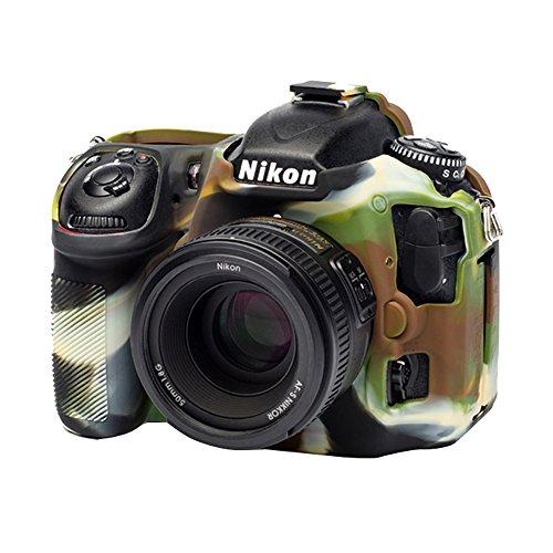 EasyCover by Bilora Carcasa de Silicona para Nikon D500Camuflaje/Negro