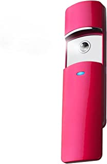 Nano Handy Mist Spray Atomization Rechargeable Facial Mister Nano Mister for Eyelash Extensions Mist (Rose Red)