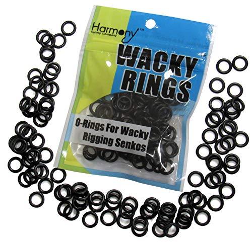 Wacky Rings - O-Rings Wacky Rigging Senko Worms (100 orings 4&5' Senkos - Wacky Rig Bass Fishing)