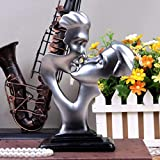 AISHANG Amantes de la Pareja cariñosa Estatua de Personaje Abstracto Decoración de artesanía de Resina, Estatua de Amor Apasionado Decoración Creativa de Sala de Estar, Plata
