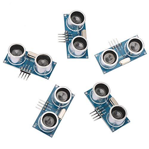 LDDLDG Ultraschall-Distanzsensor 5 Stück HC-SR04 Ultraschall-Entfernungsmodul Distanzmesssensor Wandler Für Arduino
