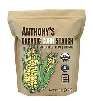 Anthony s Organic Corn Starch 2 lb Gluten Free Vegan & Non GMO