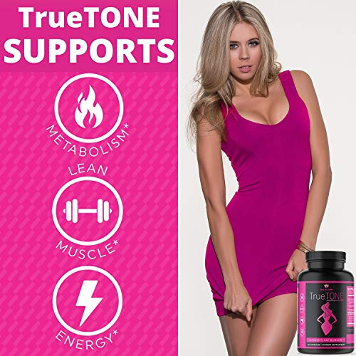 True Recovery TrueTONE Women's Fat Burner - Appetite Suppressant, Energy Booster, Muscle Toner and Weight Loss Supplement with Keto Sodium, Calcium and Magnesium Salts Fat Burner -60 Weight Loss Pills 9