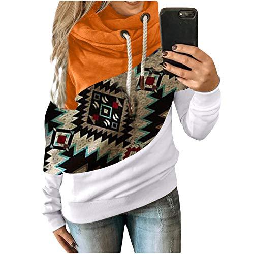 Damen Nation Style Drucken Kapuzenpullover Hoodie Kapuzenpullover Langarm Shirts Sweatshirt Gesteift Langärmelig Kapuzenpulli mit Schnur