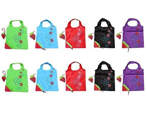 Switty Bolsas plegables para la compra con bolsa para el hombro, diseño...