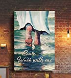 Debra Ben Jesus Come and walk with me Poster, Posters Unframed wall Decor, jesus christ poster, jesus portrait for wall, jesus poster for wall, picture of jesus christ, pictures of jesus christ