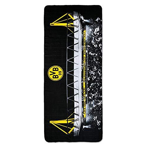 Borussia Dortmund, BVB-Microfaser-Handtuch, Schwarz, Gelb, 75x180cm