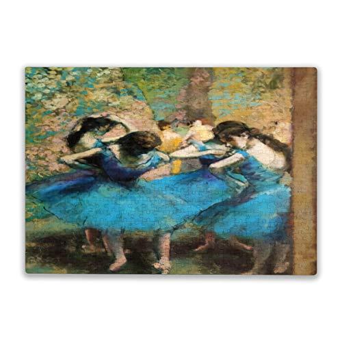 yiliusu-Degas Blue Dancers- Puzzles 500 piezas - Juegos para adultos, adolescentes y niños 20.5 x 15 pulgadas