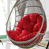 WAQIA Hanging Basket Hanging Egg Chair Cushions Hammock Chair Cushions Thick Nest Back Pillow for Outdoor Patio Garden Swing Chair Cushion Seat Pads (red)