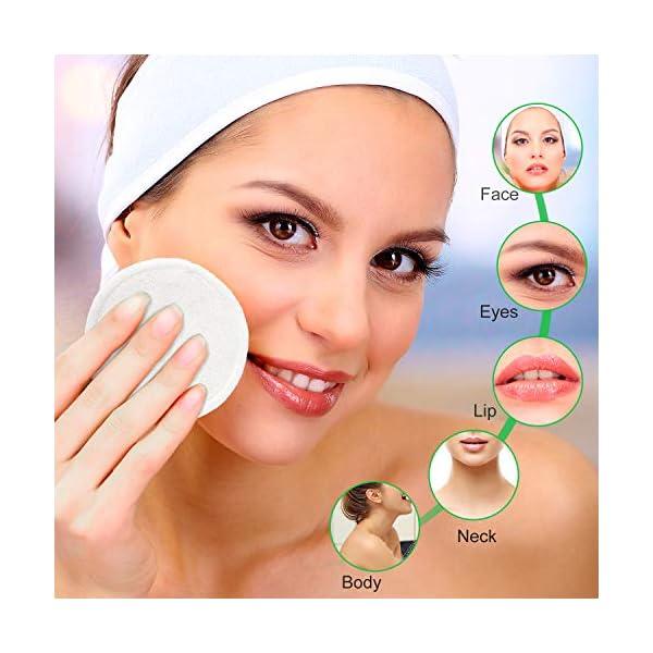 Reusable Remover Pads丨Bamboo Fiber Cleansing Pads丨Washable Cotton Wipe丨Organic Makeup Disc丨Facial Cleansing Disks (16pcs…