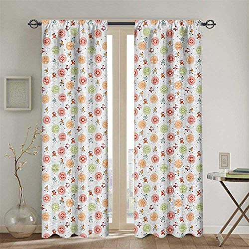championCEL Thermal Insulated Blackout Curtains - Window Treatment Drapes for Hall(2 Panels, W72 x L72 inches, Christmas)