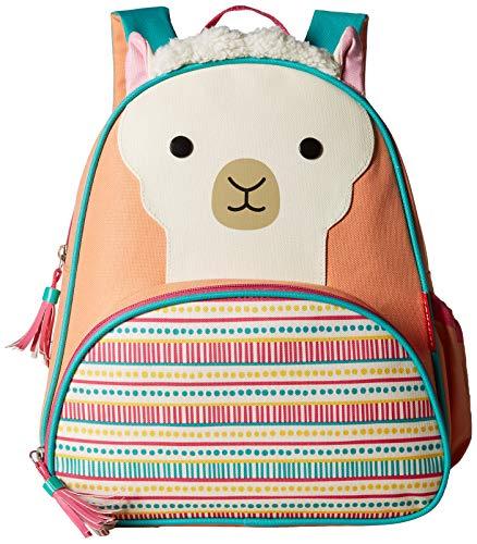 Skip Hop Zoo Kleinkind Rucksack, mit Namensschild, Lama Luna, mehrfarbig