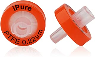 Alberts Filter Syringe Filter Pore Size of 0.22um, Membrane Diameter of 13mm, Nonsterile PTFE Syringe Filter with Hydrophobic PTFE Membrane Pack of 100 Pcs