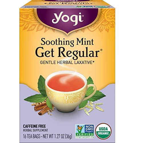Yogi Tea - Soothing Mint Get Regular (6 Pack) - Gentle Herbal Laxative - 96 Tea Bags