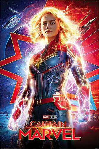 POSTER STOP ONLINE Captain Marvel - Marvel Comics Movie Poster (Regular Style) (Size 24 x 36