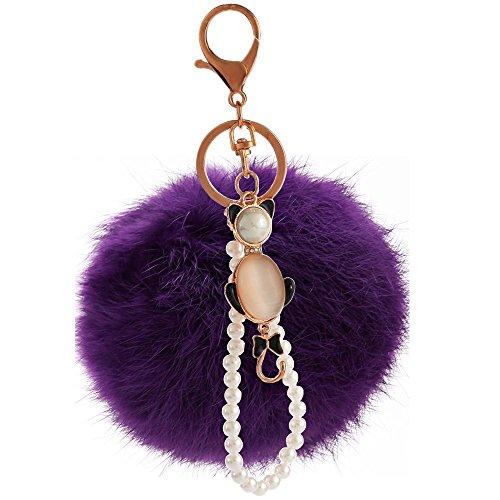 Opal Colgante Plush Lady Keychain Phone Colgante Morado