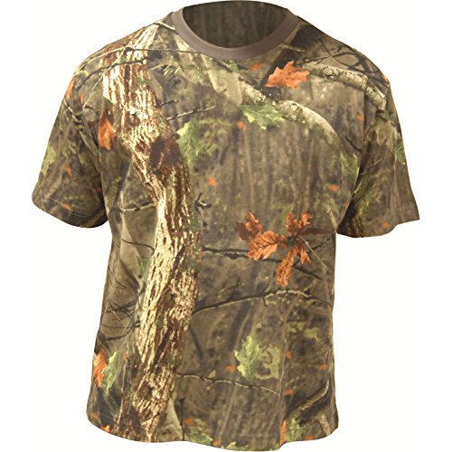 Highlander Mens Short Sleeve Cotton Tree Deep Camouflage T Shirt