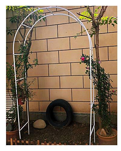 HLMBQ Arco para Enredaderas,Arcos de Jardín de Hierro de Pie,Resistente a la corrosión,para Plantas de Escalada Decoración de Fiestas Negro 140x240cm,230x190cm