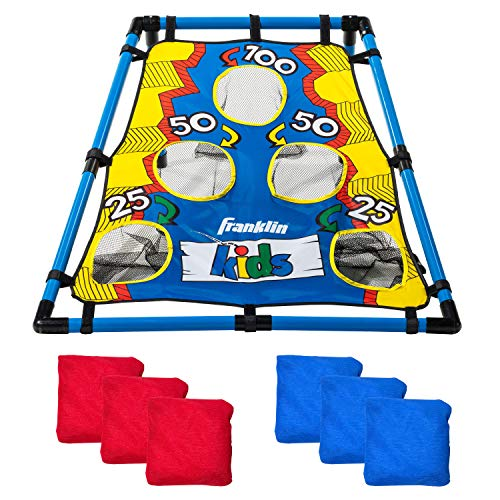 Franklin Sports Kids Bean Bag Toss - Great for Kids-Indoor Outdoor Use - Includes 31u0022 x 33u0022 Target and (6) 4u0022 Bean Bags