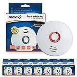 Nemaxx 7x FL10VdS Rauchmelder - hochwertiger Rauchwarnmelder nach neuestem VdS Standard zertifiziert und EN14604 - mit integrierter 10 Jahre Lithium-Batterie