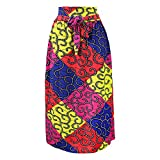 N\P Vintage africano impresión plisada musulmana mujeres faldas largas más tamaño