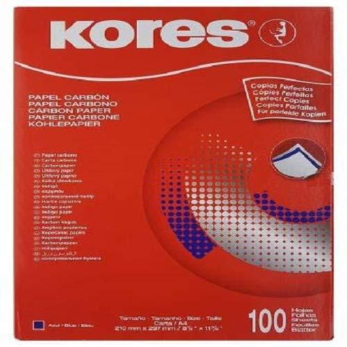 Kores 78478P Durchschreibepapier, DIN A4, blau, 100 Blatt