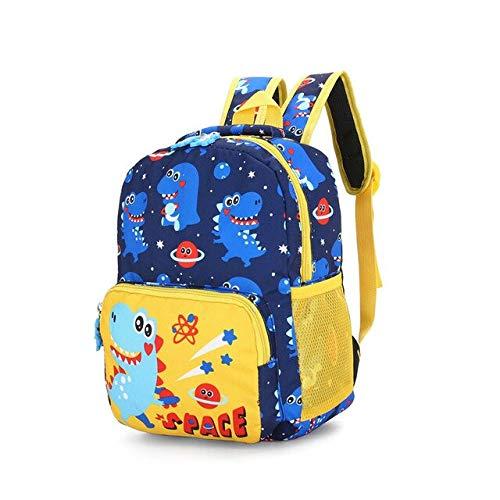 Dinosaurus, bedrukking, nylon, kinderdagverblijf schooltassen, rugzakken, baby's, jongens, meisjes, kleuterschool, kleine kinderen, schattige rugzak, blauw (blauw) - WZNB-9124578735