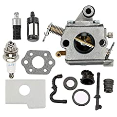 its models: 1130 120 0603 Fit Zama C1Q-S57 C1Q-S57A C1Q-S57B Carburetor Replaces Stihl MS170 MS180 MS170C MS180C 017 018 chainsaw Air filter replaces 1130 124 0800 Package comes with: 1x carburetor+1x gasket+1x reubber kit+1x fuel filter+1x oil filte...