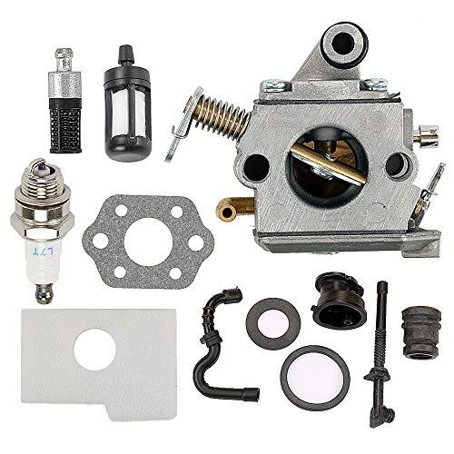 Milttor MS 170 Carburetor Air Filter Rubber Kit Fit MS180 Carburetor 017 018 MS170 MS170C MS180C Chainsaw Zama C1Q-S57 C1Q-S57A Carb 1130 120 0603 1130 124 0800