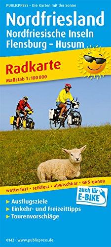 Nordfriesland, Nordfriesische Inseln, Flensburg -. Huseum: Radkarte mit Ausflugszielen, Einkehr- & Freizeittipps, wetterfest, reissfest, abwischbar, GPS-genau. 1:100000 (Radkarte / RK)
