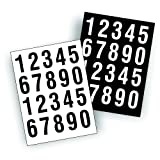 Sheets of Decals Stickers - USDOT ID Numbers Great for Boat Truck Tractor Trailer Contruction Equipment or Mailbox 2 of Each Number per Sheet - Black & White 2 inch Tall