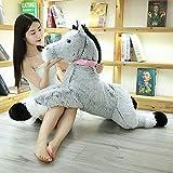 90cm-120cm Kawaii Unicornio Juguetes de Peluche Gigante Animal de Peluche Caballo Juguetes para niños Muñeca Suave Decoración del hogar Amante Regalo de cumpleaños 120cm Gris