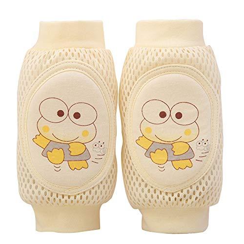 ETbotu Baby Geschenke – Kinder Knieschoner Baby atmungsaktiv Mesh Schwamm Crawling bruchsicher Ellenbogen Schutzausrüstung gelb 0–6 Jahre alt Gelb