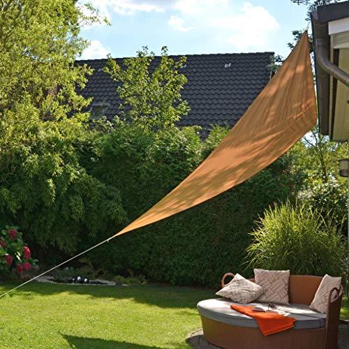 HI Voile de Parasol Triangulaire Voile d'Ombrage Toile Pare-Soleil Protection UV Solaire Imperméable Jardin Patio Terrasse Balcon 3,6x3,6x3,6 m