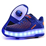 AIkuass Roller Shoes USB Rechargeable Roller Skates LED Light Up Roller Sneakers Wheel