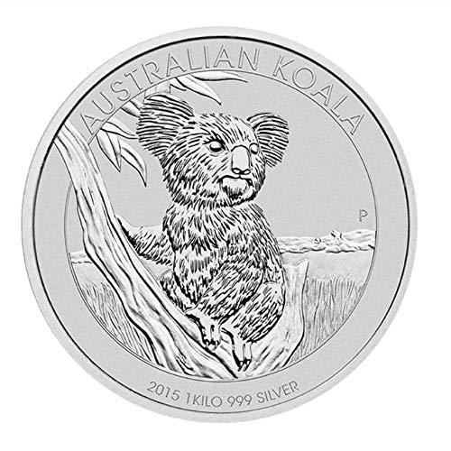 XCDJF Australian Animal Challenge Münze Niedlicher Koala Versilberte Gedenkmünze Elizabeth II Collection Silbermünze Größe: 40 * 3mm, Material: Versilbert