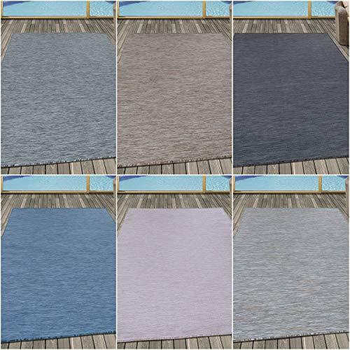 Ayyildiz Wunderschöne Mambo/Sisal Teppich, Einfarbig, Höhe 6 mm, In- und Outdoor geeignet, Farbe:Pink, Größe:140 x 200 cm